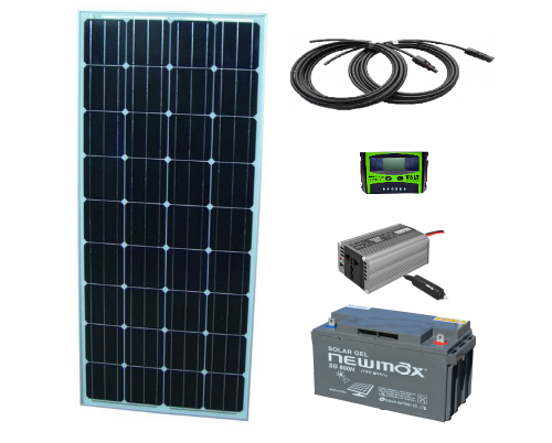Sistem fotovoltaic independent 270W, 220V C.A. cu invertor 600W – sinus pur - Featured image