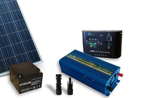 Sistem fotovoltaic independent 100W, 220V C.A. cu invertor 300W – sinus modificat - Featured image