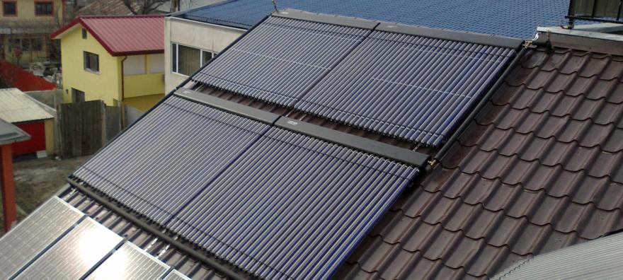 Instalatie solara cu 6 panouri solare tuburi vidate Thermomax DF100