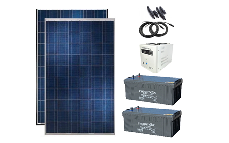 Sistem fotovoltaic independent 540W, 220V C.A. cu invertor 1000VA/2000VA – sinus pur - Featured image