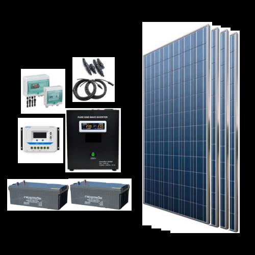 Sistem fotovoltaic off grid 1320W, 220V C.A. cu invertor hibrid 2500VA – sinus pur - Featured image
