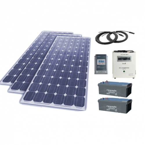 Sistem fotovoltaic independent 795W, 220V C.A. cu invertor hibrid 2000VA – sinus pur - Featured image