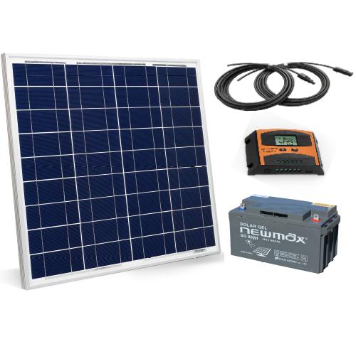 Sistem cu panou solar fotovoltaic 50W, 12V - Featured image