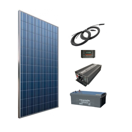 Sistem solar fotovoltaic independent 330W, 220V C.A. invertor sinus pur - Featured image